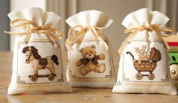 Toys Pot Pourri Bags Cross Stitch Kit